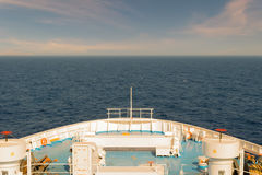 Front of a ferry boat against the sky while travelling. Royalty Free Stock Photos