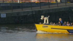 Front of Ferry boat stock footage