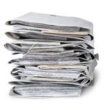In Front Files Arranged In Stack Royalty Free Stock Photos