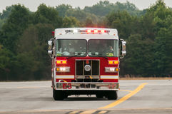 Front of a fire truck Stock Photography