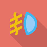 Front fog light. Icon. Flat vector related icon with long shadow for web and mobile applications. It can be used as - logo, pictogram, icon, infographic element Stock Image