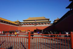 The forbidden city in Beijing stock photo