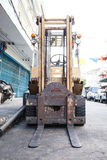 Front of forklift Royalty Free Stock Photo