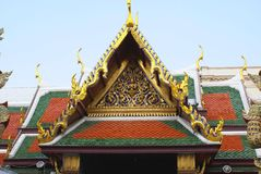 Front gable of Wat Phra Kaew, The Grand Palace, Bangkok, Thailand, Asia Stock Images