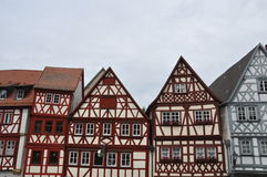 Front gables of half-timbered houses in Germany royalty free stock photography