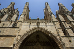 The front gate of the Cathedral in Palma de Mallorca Stock Photography