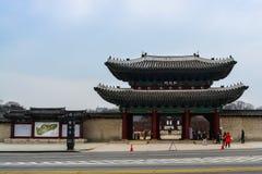 Front gate of Changgyeong palace. The HongHwa gate of seasoning palace in Seoul, South Korea Stock Images
