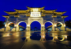 Front gate of Chiang Kai Shek memorial hall Stock Image