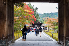 Front gate Kinkakuji golden palace. KYOTO - JAPAN, November 7 : Front gate before getting into Kinkakuji golden palace in Kyoto, Japan on November 7, 2015 royalty free stock photo