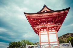 Front gate at Kiyomizu-dera Temple in Kyoto, Japan. Royalty Free Stock Image