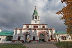 Front gate in Kolomenskoye, Moscow Stock Images
