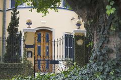 Front Gate of Mansion in Sao Paulo Stock Images