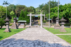Front gate of martyrs' shrine. In Taoyuan, Taiwan royalty free stock images