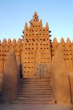 Front gate and minaret on Djenne mosque Royalty Free Stock Photos