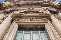 Gate of old church in rome Royalty Free Stock Images