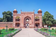 Front gate of Tomb of I`timad-ud-Daulah in agra Royalty Free Stock Image