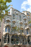 Front of Gaudi building in Barcelona Stock Photos