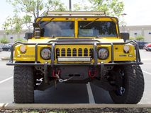 Front of General Motors Hummer Sport Utility Vehicle Stock Photography