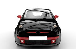 Front of a generic black and red city car Stock Image