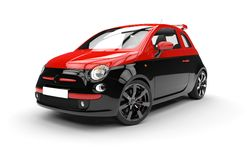 Front of a generic red and black city car Stock Photography