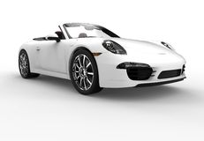 Front of a generic white sport car Stock Image