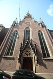 Front of the german church in the Bleijenburg in The Hague, The Netherlands.  royalty free stock images