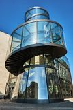 Front of the German Historic Museum in Berlin showing the small tower near the entrance.  royalty free stock photo