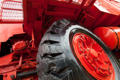 Front of Giant vintage mining truck Royalty Free Stock Images