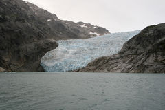 Front of a glacier Royalty Free Stock Photo