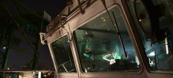 Front glass of navigation bridge stock images