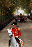In front of golden carriage Royalty Free Stock Photo