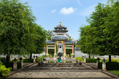 Front Graden of chinese style entrance Royalty Free Stock Photos