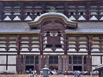 The front of Great Buddha Hall at Todai-ji temple. Royalty Free Stock Images