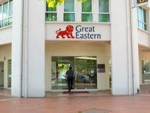 Front Of Great Eastern Life försäkringskontor, Ipoh filial Royaltyfria Foton