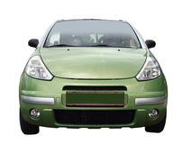 Front of green car Stock Photos