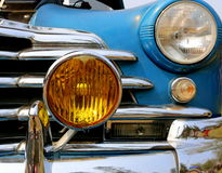Front Grill and Headlights of Chevrolet Fleetmaster. Detail view of front grill and headlight of Chevrolet Fleetmaster Stock Images