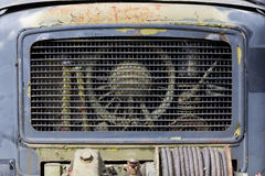 Front grill of old rusted truck Stock Photography