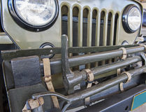 Front grille of an old army jeep Royalty Free Stock Images