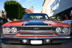 Front of an gtx retro car Royalty Free Stock Photography