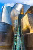 In front of the Guggenheim. Front view of the Guggenheim in Bilbao Stock Image