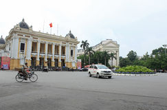 Front of Hanoi Opera House in Hanoi Stock Images