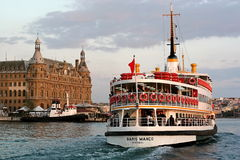 Ferry BARIS MANCO sails into Haydarpasa Stock Photos