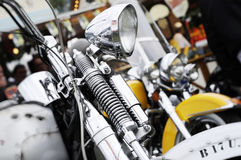 Front headlamp of a motorcycle Stock Photography