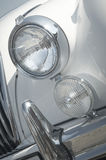 Front headlight of a classic british car Royalty Free Stock Image