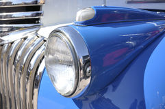 Front headlight on a classic car Stock Photo