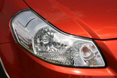 Front headlight of new car Stock Image