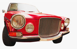 Front headlights and grille of a restored retro car Stock Photos