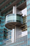 Front of high-tech style building Royalty Free Stock Image