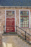Front of a historical house in Leeuwarden Royalty Free Stock Photography