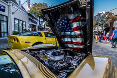 Front Hood 1970 stingray Corvette Stock Photos